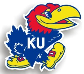 "Kansas Jayhawks 12"" Car Magnet"