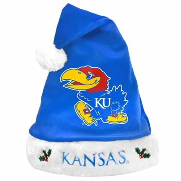 Kansas Jayhawks 2012 Team Logo Plush Santa Hat