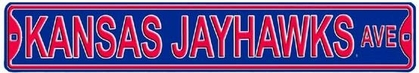 Kansas Jayhawks Ave Street Sign