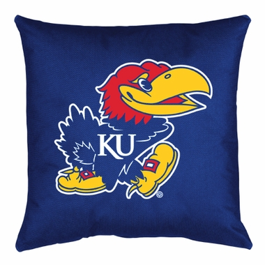 Kansas Jersey Material Toss Pillow