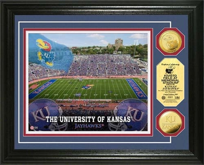 Kansas Jayhawks University of Kansas Kivisto Field 24KT Gold Coin Photomint