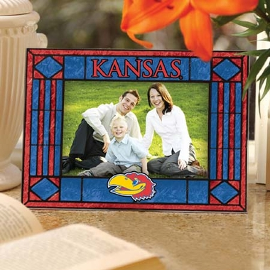 Kansas Landscape Art Glass Picture Frame