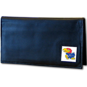 Kansas Leather Checkbook Cover (F)