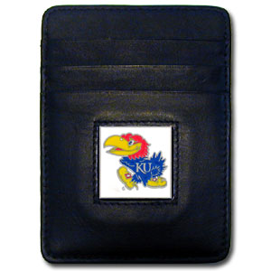 Kansas Leather Money Clip