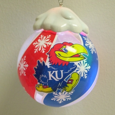 Kansas Light Up Glass Ball Ornament