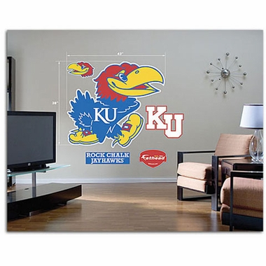 Kansas Logo Fathead Wall Graphic