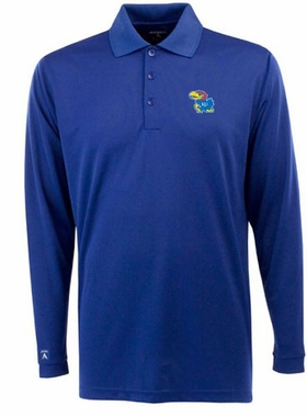 Kansas Mens Long Sleeve Polo Shirt (Team Color: Royal)