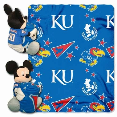 Kansas Mickey Mouse Pillow / Throw Combo