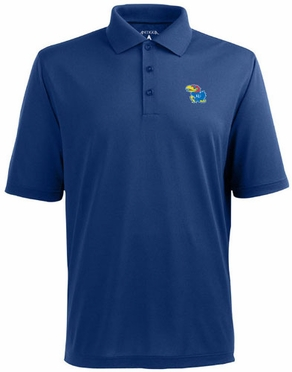 Kansas Mens Pique Xtra Lite Polo Shirt (Team Color: Royal)