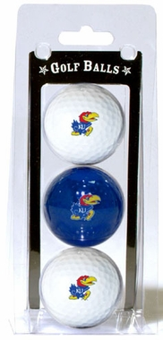Kansas Set of 3 Multicolor Golf Balls