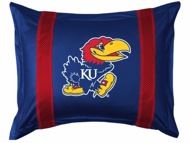 Kansas SIDELINES Jersey Material Pillow Sham