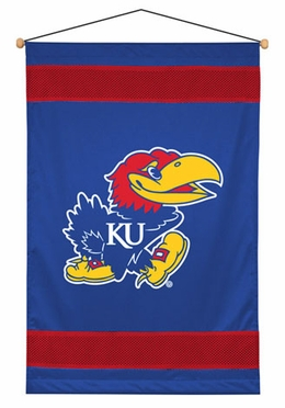Kansas SIDELINES Jersey Material Wallhanging