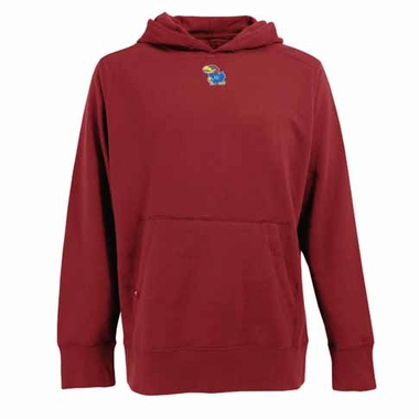Kansas Mens Signature Hooded Sweatshirt (Color: Red)