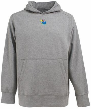 Kansas Mens Signature Hooded Sweatshirt (Color: Gray)
