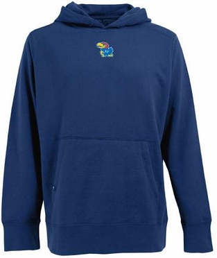 Kansas Mens Signature Hooded Sweatshirt (Team Color: Royal)