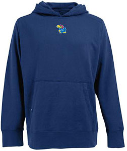 Kansas Mens Signature Hooded Sweatshirt (Color: Royal) - Small