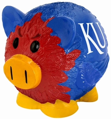 Kansas Jayhawks Piggy Bank - Thematic Small