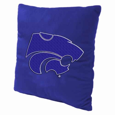 Kansas State 15 Inch Applique Pillow