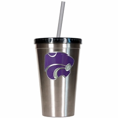 Kansas State 16oz Stainless Steel Insulated Tumbler with Straw