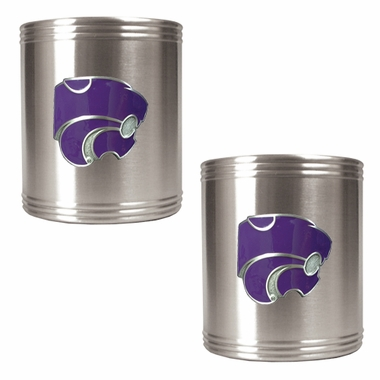 Kansas State 2 Can Holder Set