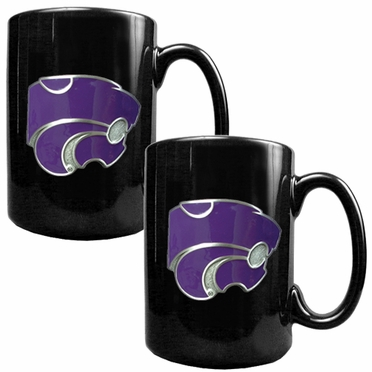Kansas State 2 Piece Coffee Mug Set