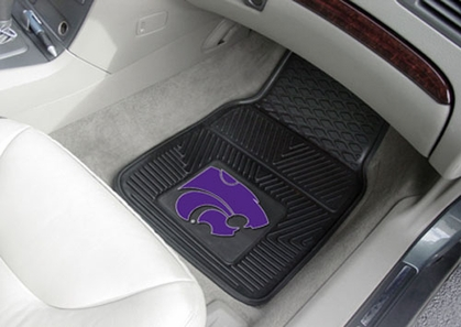 Kansas State  2 Piece Heavy Duty Vinyl Car Mats