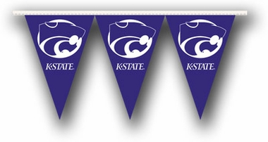Kansas State 25 Foot String of Party Pennants (P)