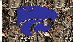 Kansas State 3x5 Realtree Camo Flag (F)