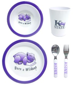 Kansas State 5 Piece Children's Dinner Set
