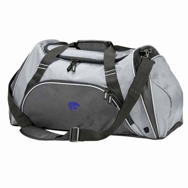 Kansas State Action Duffle (Color: Grey)
