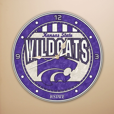 Kansas State Art Glass Clock