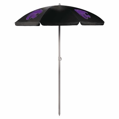 Kansas State Beach Umbrella (Black)
