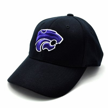 Kansas State Black Premium FlexFit Baseball Hat