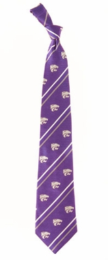 Kansas State Cambridge Woven Silk Necktie