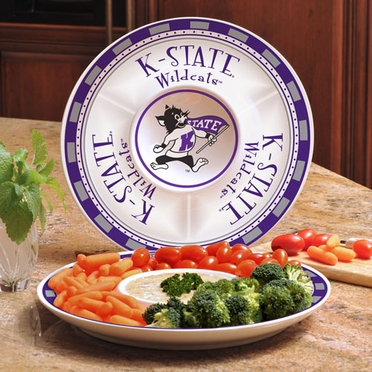 Kansas State Ceramic Chip and Dip Plate