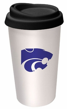 Kansas State Ceramic Travel Cup