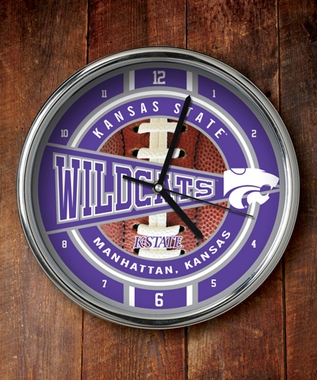 Kansas State Chrome Clock