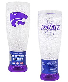 Kansas State Wildcats Crystal Pilsner Glass