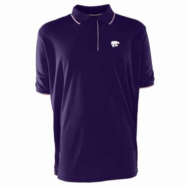 Kansas State Mens Elite Polo Shirt (Color: Purple)