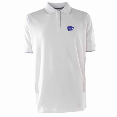 Kansas State Mens Elite Polo Shirt (Color: White)