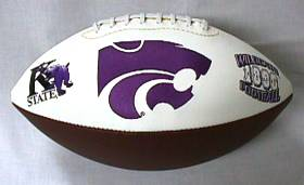 Kansas State Embroidered Foto Football