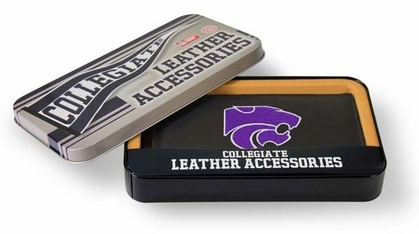 Kansas State Embroidered Leather Checkbook Cover