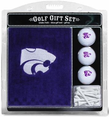 Kansas State Embroidered Towel Gift Set