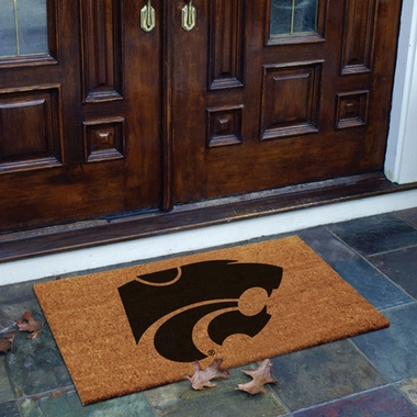 Kansas State Flocked Coir Doormat