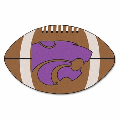Kansas State Football Shaped Rug