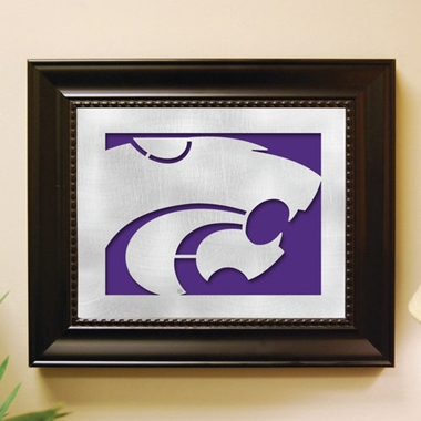 Kansas State Framed Laser Cut Metal Wall Art
