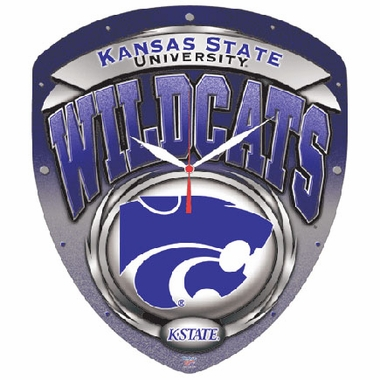 Kansas State High Definition Wall Clock