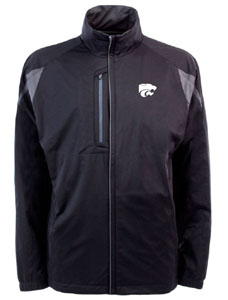 Kansas State Mens Highland Water Resistant Jacket (Team Color: Black) - X-Large