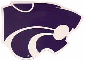 "Kansas State Wildcats 12"" Car Magnet"