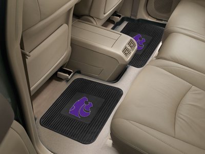Kansas State SET OF 2 Heavy Duty Vinyl Rear Car Mats